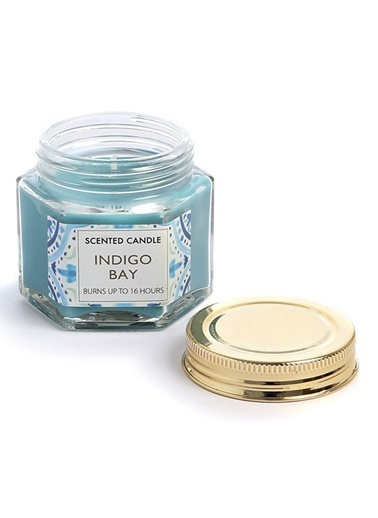 LWP Shop İndigo Bay Bergamot ve Sümbül Kokulu Mini Mum Mavi